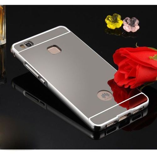 Mirror Bumper Metal Case Srebrny   Etui dla Huawei P9 Lite - Srebrny