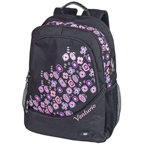 Plecak szkolno-sportowy Venturio czarny, kolor czarny