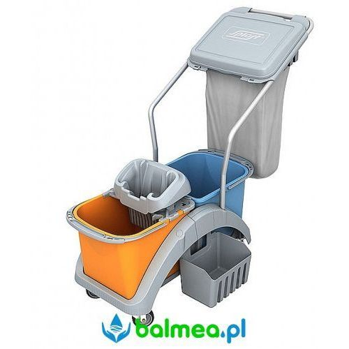 Splast Wózek do sprzątania ts2-0020 dwuwiadrowy z workiem na odpady i koszykiem