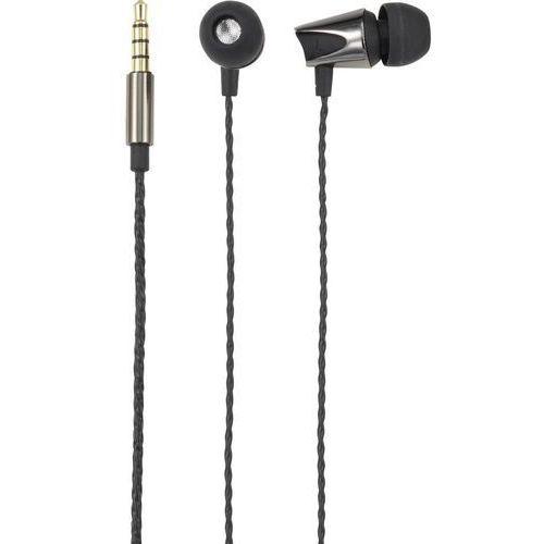 Słuchawki In Ear Renkforce EP-1056, czarny (metaliczny)