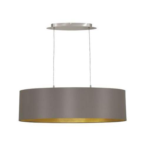 Lampa wisząca Eglo Maserlo 31614 z abażurem 2x60W E27 ciemnoszary/złoty (9002759316143)