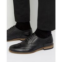 Dune braker brogues in black leather - black