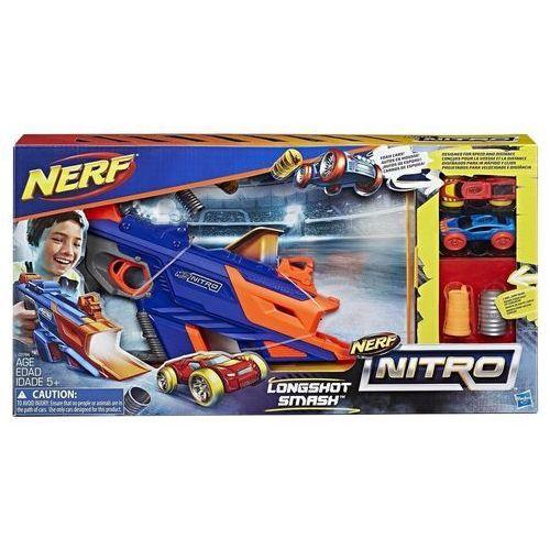 - wyrzutnia nerf nitro longshot smash + 2 autka - c0784 marki Hasbro