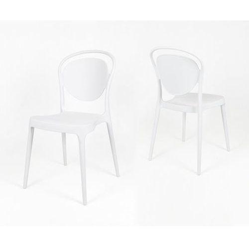 Sk design kr055 białe krzesło polipropylenowe - biały