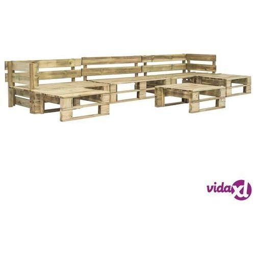 Vidaxl 6-cz. zestaw wypoczynkowy do ogrodu, palety z fsc, zielone