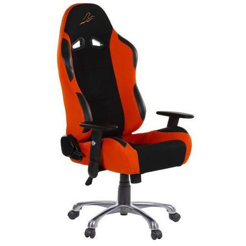 Pomarańczowy sportowy fotel biurowy gabinetowy - pomarańczowy marki Makstor.pl