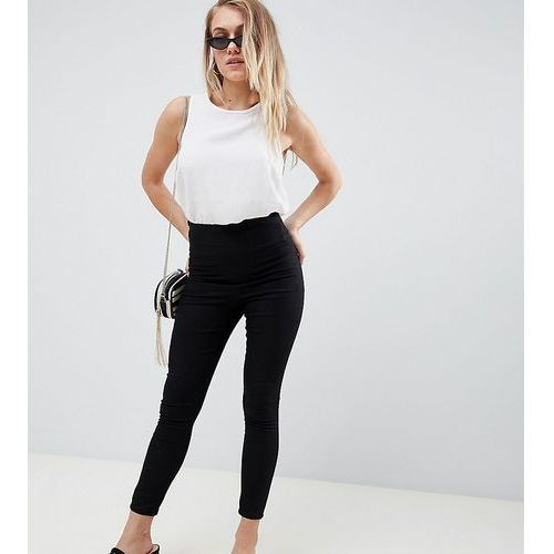 ASOS DESIGN Petite pull on jegging in black with clean waistband detail - Black