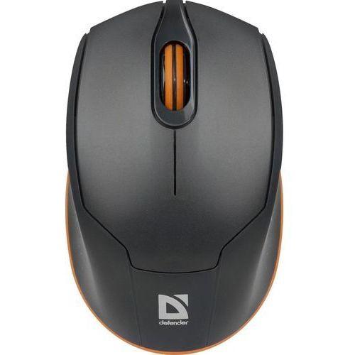 Mysz bezprzewodowa Defender GENESIS MB-865 optyczna 1600dpi 3P szaro-pomarańczowa