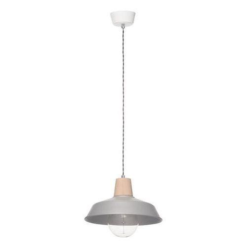 Lampa wisząca Melania Z popiel/drewno - Popiel