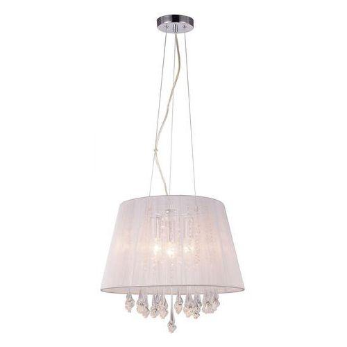 Żyrandol LAMPA wisząca ISLA MDM1869-3 WH Italux abażurowa OPRAWA kryształowa ZWIS glamour crystal biały, MDM1869-3 WH