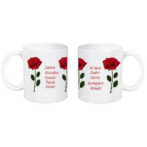 Kubek z Nadrukiem Dzień Babci Róże Życzenia Wnuki - DB19