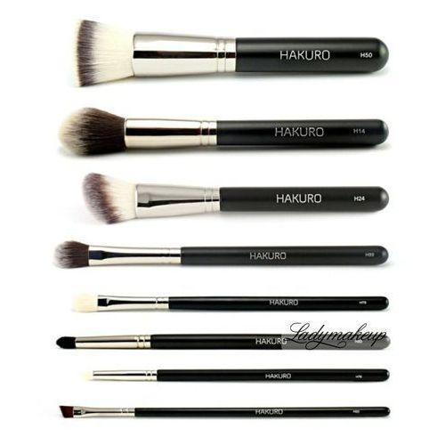 - zestaw 8 pędzli do makijażu twarzy i oczu - zaawansowany marki Hakuro
