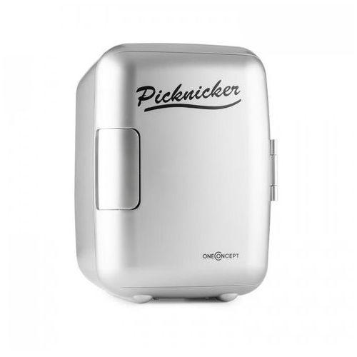 OneConcept Picknicker mini lodówka termiczna chłodzenie 4 litry AC DC AUTO (4260457488431)