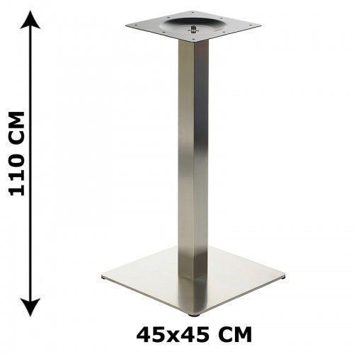 Podstawa stolika wys. 110 cm, stal nierdzewna polerowana lub szczotkowana ( stelaż stolika) - E78/45/110/S, E78/45/110/S