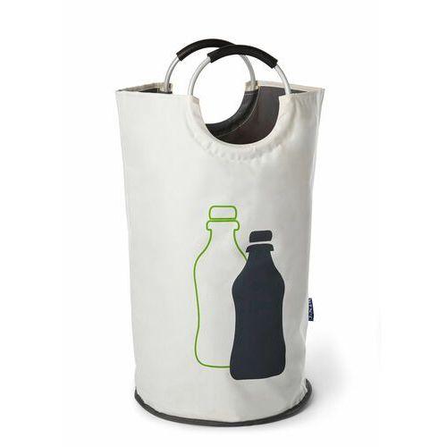 "Bonprix Torba na butelki ""jumbo"" biało-jasnoszaro-jasnozielony"