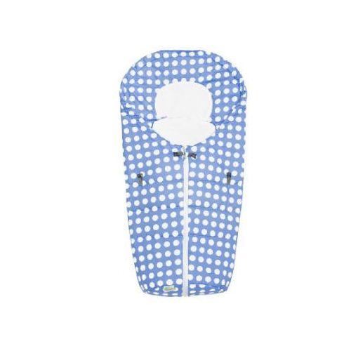 ODENWÄLDER Śpiworek do fotelika samochodowego Kropki Dots, kolor azur (4005226130940)