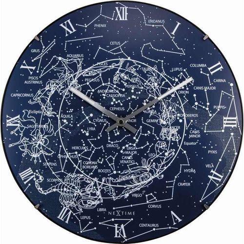 Nextime - zegar ścienny milky way dome - niebieski