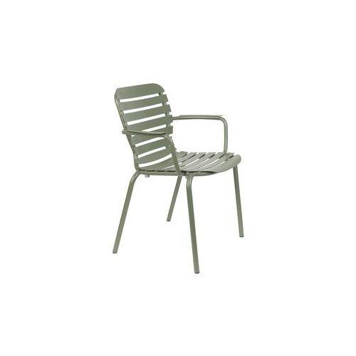 Zuiver krzesło ogrodowe z podłokietnikami vondel zielone 1700005