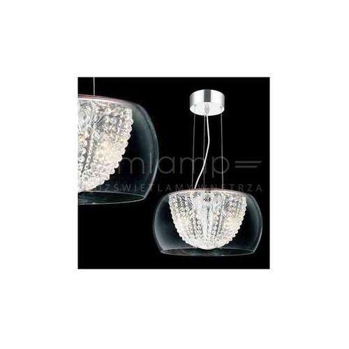 Orlicki design Kryształowa lampa wisząca lexus 400s claro okrągła oprawa regulowana zwis crystal przezroczysty (1000000280159)