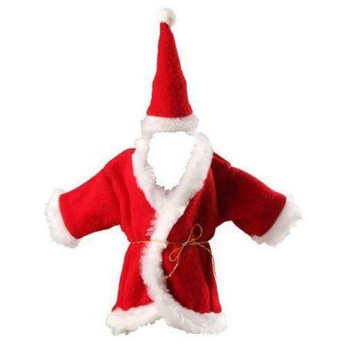Ubranko Mikołaja na butelkę - dodatki na święta z kategorii Pozostałe