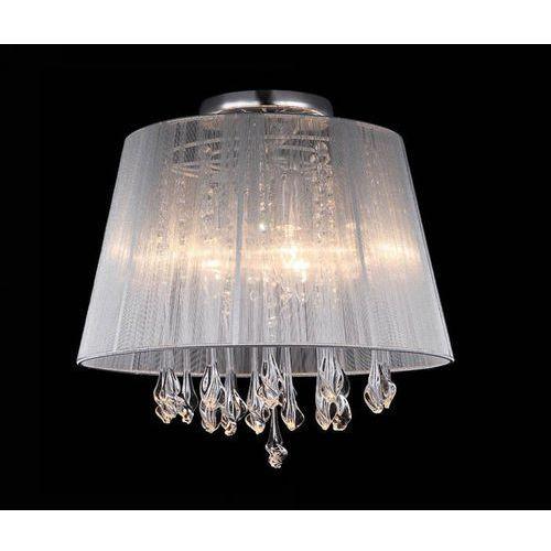 Plafon LAMPA sufitowa ISLA MXM1869-3 WH Italux abażurowa OPRAWA kryształowa glamour crystal biała