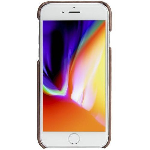 Krusell Sunne 2 Card Cover - Skórzane etui iPhone 8 / 7 / 6s / 6 z dwoma zewnętrznymi kieszeniami na karty (Brown), kolor brązowy