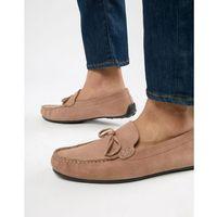 Kg by kurt geiger wide fit ringwood driving shoes in suede - pink, Kg kurt geiger