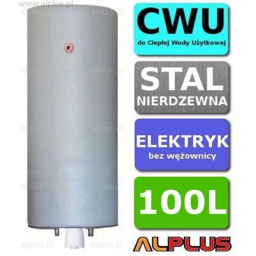 Bojler elektryczny nierdzewny pionowy wiszący 100L, z grzałką 2kW lub inną do wyboru, 100 litrów, bez wężownicy, ze stali nierdzewnej kwasoodpornej, Wysyłka gratis