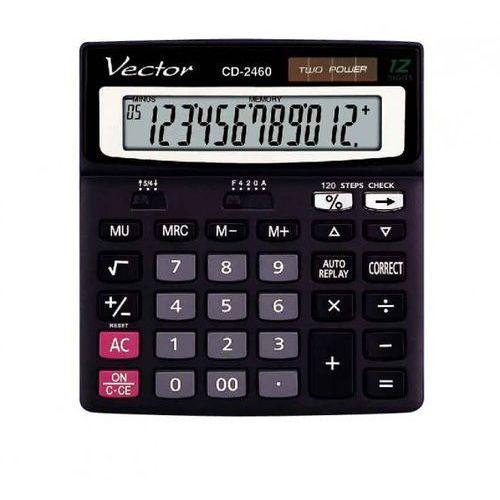 VECTOR KALKULATOR VECTOR BIUROWY DK-209DM BLK 12-POZ. - Dobra cena!