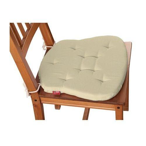 Dekoria  siedzisko filip na krzesło, kremowy, 41x38x3,5 cm, loneta