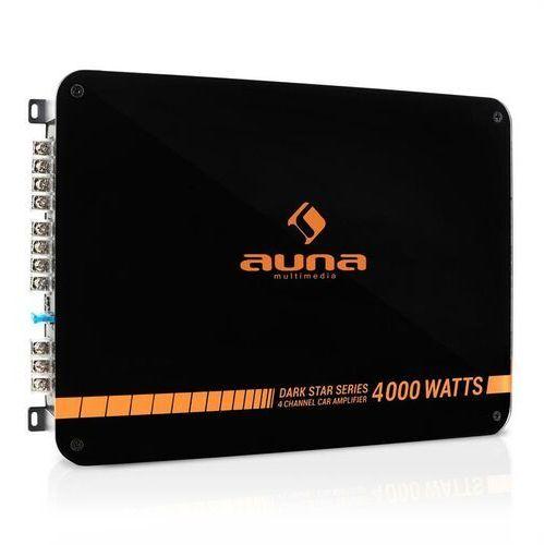 Auna Dark Star 4000 końcówka mocy do samochodu 4-kanał 400W RMS (4260359385296)