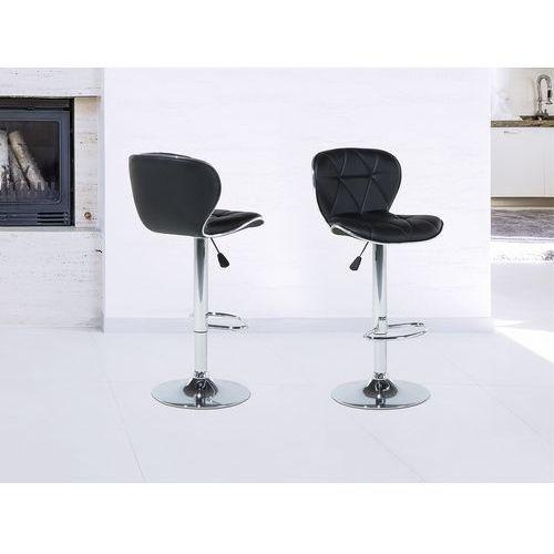 Hoker czarny - krzesło - do jadalni - do kuchni - barowy - valetta, marki Beliani