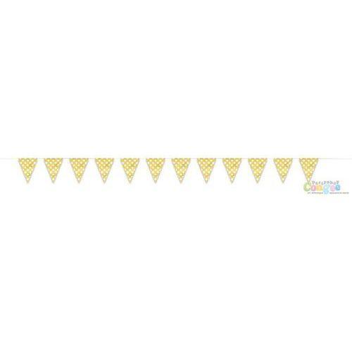Baner flagi żółte w kropki - 3,65 m.