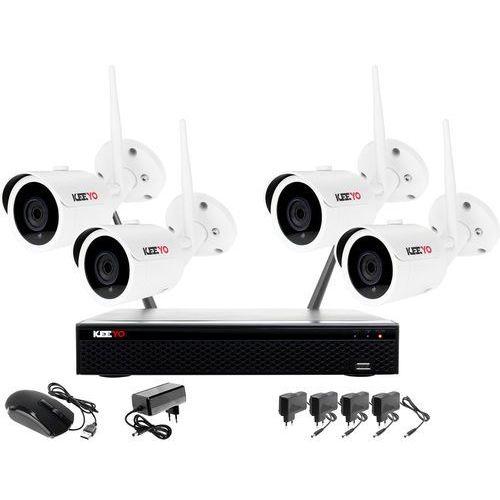 Ivelset Monitoring bezprzewodowy z rejestratorem ip wifi, 4 kamera ip wifi 1080p, akcesoria