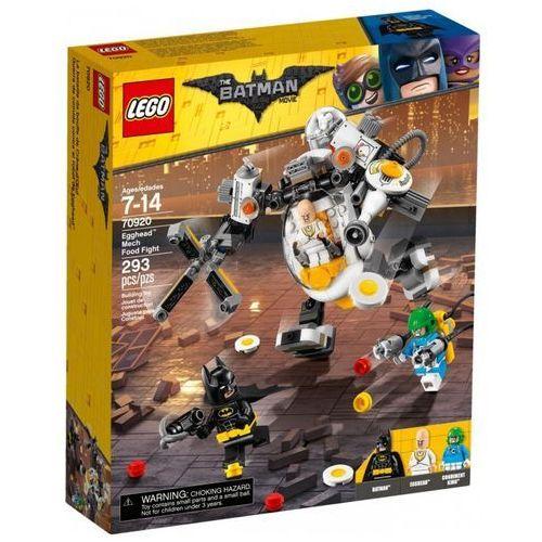 Klocki batman movie mech eggheada i bitwa na jedzenie marki Lego