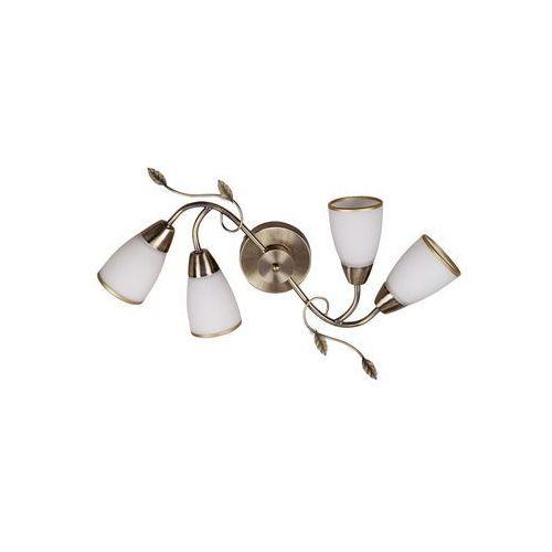 Plafon lampa sufitowa Rabalux Dreambells 4x40W E14 brązowy / biały 6145, kolor Biały