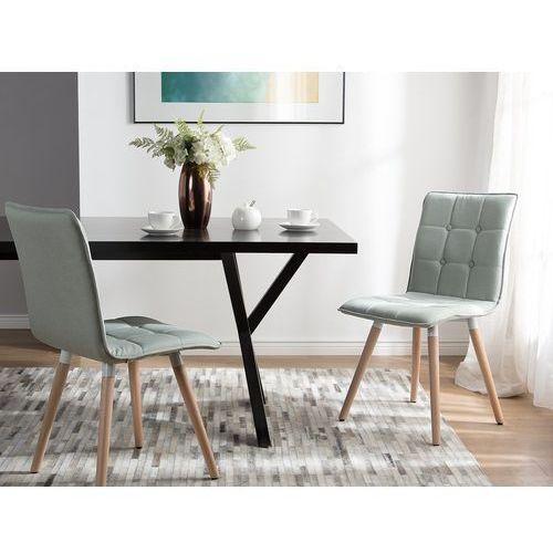 Zestaw do jadalni 2 krzesła szare BROOKLYN