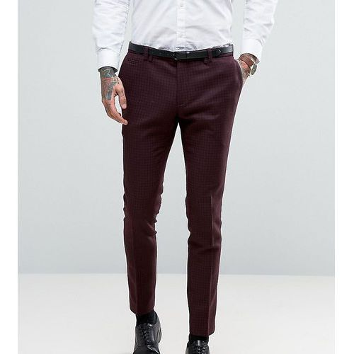 super skinny suit trousers with lux tonal print - red marki Noak