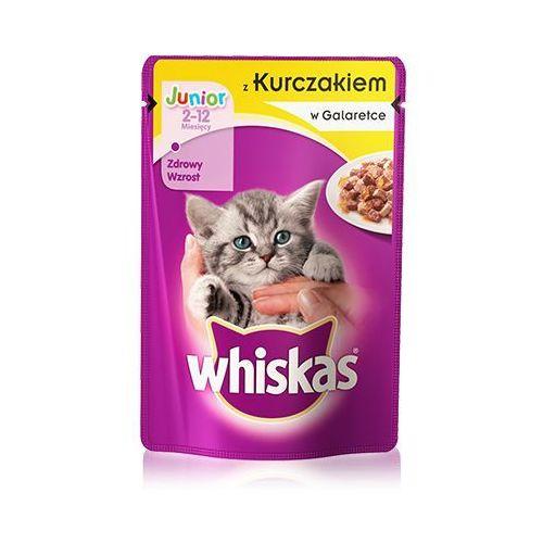 Whiskas junior z kurczakiem 100 g x 18 + 6 gratis - darmowa dostawa od 95 zł!