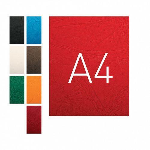 Okładki do bindowania a4 karton skóropodobny o.universal czerwony 100szt. marki Opus