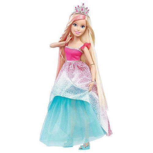 Barbie Lalka  długowłosa 43 cm (różowa)