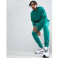 ASOS DESIGN Tracksuit Oversized Sweatshirt/Skinny Joggers In Teal Green - Green