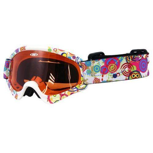 Dziecięce gogle narciarskie snowboardowe WORKER Sterling z grafiką