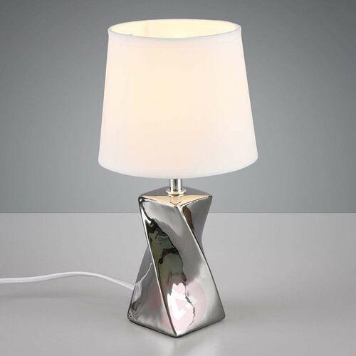 Trio rl abeba r50771589 lampka stołowa biurkowa 1x40w e14 srebrny / biały (4017807409369)