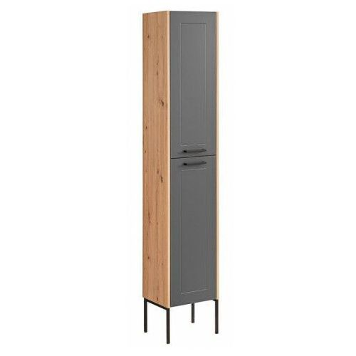 Grafitowa pionowa industrialna szafka łazienkowa - saloma 2x marki Producent: elior