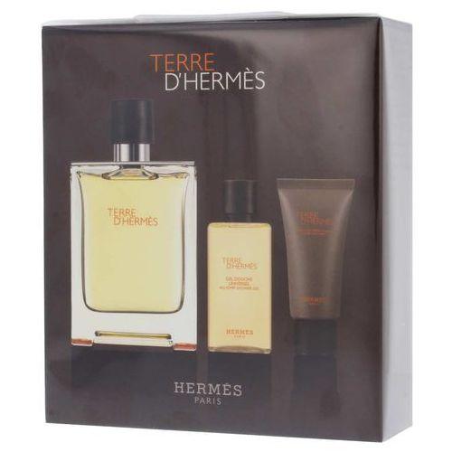 Hermes Zestaw  terre d'hermes perfumy męskie - woda toaletowa 100ml + żel pod prysznic 40ml + balsam po goleniu 15ml (3346131405329)