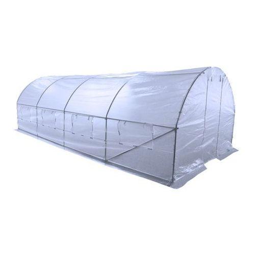 tunel foliowy, ogrodowy - 300 x 600 cm (18 m2) - biały marki Home&garden