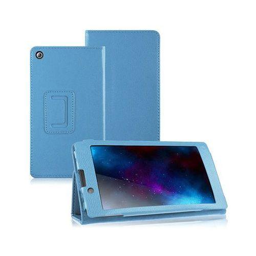 Niebieskie etui typu stand cover lenovo tab 2 a7-10f - niebieski marki 4kom.pl