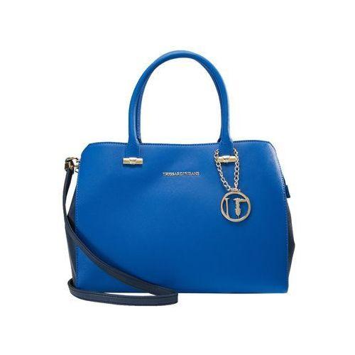 Trussardi Jeans LEVANTO ECOSAFFIANO TOTE BAG Torebka bluette blue, kolor niebieski