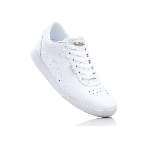 Sneakersy skórzane Brütting bonprix biały